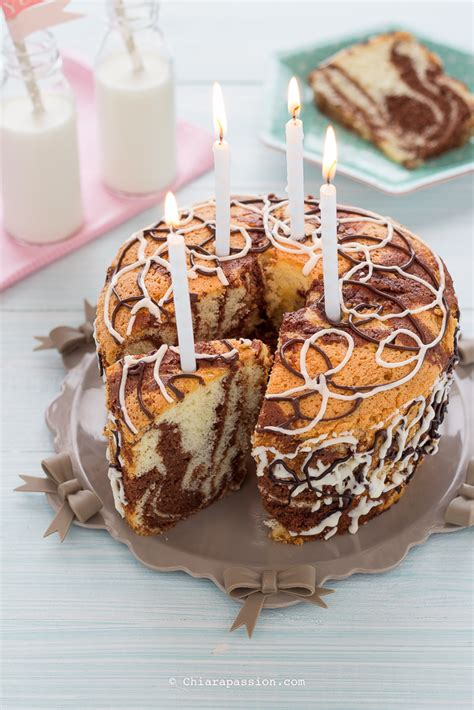 candele torta ciambella marmorizzata chiffon cake bicolore