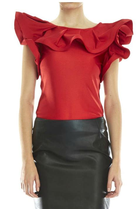 Top Ruffle gracia ruffle top from houston by armario de la