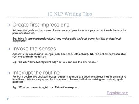nlp pattern interrupt pdf 10 nlp techniques for writers
