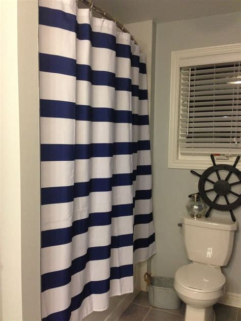 white and navy shower curtain shower curtain navy white nautical theme bathroom