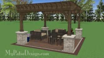 14x14 Pergola Plans by 14x14 Cedar Pergola Design With Columns Downloadable