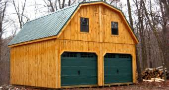 car garage with gambrel metal roof and board batten siding pics photos barn plans