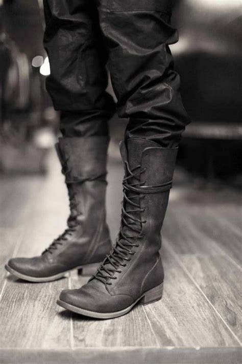 mens lace up biker boots best 25 mens high boots ideas on pinterest knee high