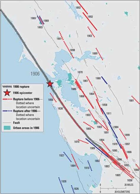 san francisco fault map putting roots in earthquake country your handbook for