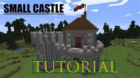 Build A Small Castle | minecraft how to build a small castle tutorial youtube