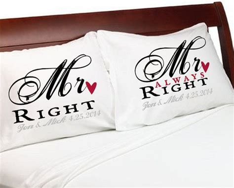MR Right & MR Always Right Gay Couple Pillowcases