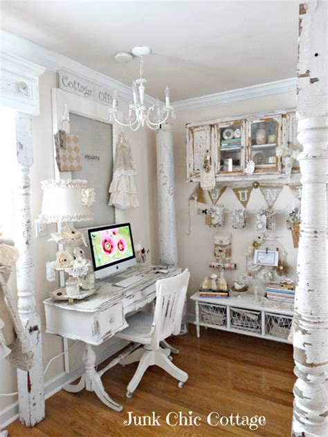 shabby chic office decor charming home tour junk chic cottage town country living