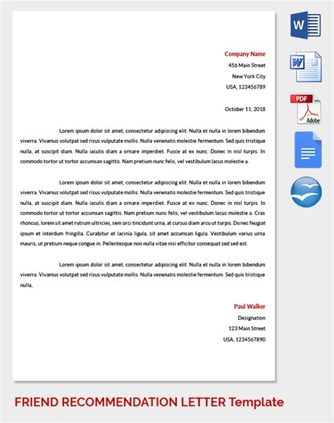 College Letter Of Recommendation From Friend College Recommendation Letter Template From Friend