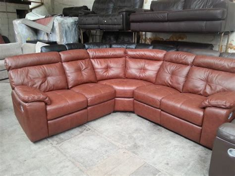 Argos Oxley Chestnut Real Leather Recliner Corner Sofa