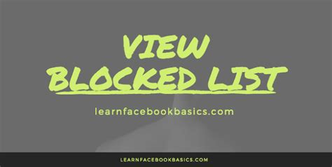 the networksage realize your network superpower books how to view your blocked list see block list