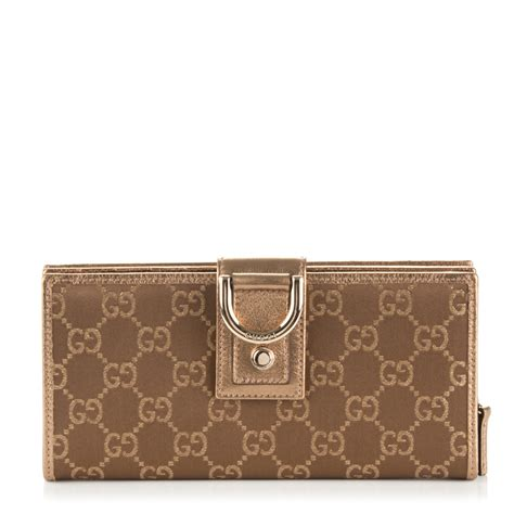 Gucci Wallet Bronze gucci satin monogram small continental wallet bronze