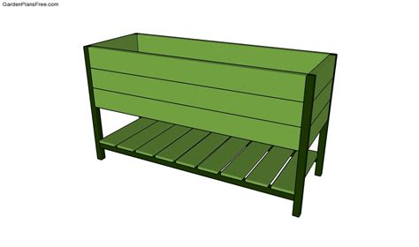 Raised Planter Box Design by Herb Planter Box Planter Free Garden Plans How To