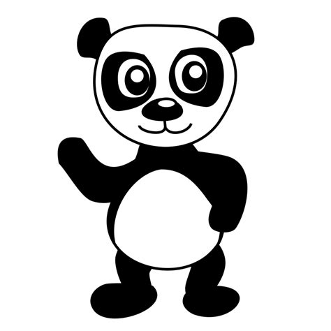 cartoon panda coloring page panda free stock photo illustration of a cartoon panda