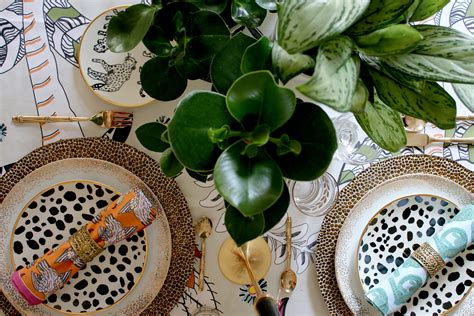Swoon Worthy Ceramics by Eclectic Boho Glam Table Setting With Halsted Design