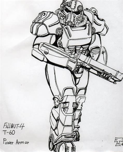 Fallout 4 Sketches by Fallout4 T60 Power By Therenegadesgt On Deviantart