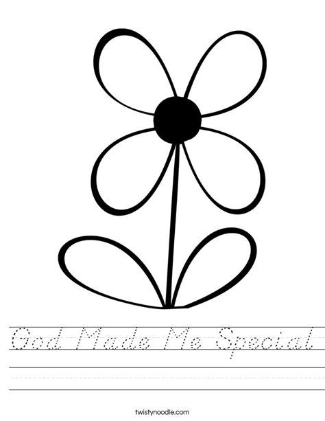 God Made Me Worksheet by God Made Me Special Worksheet D Nealian Twisty Noodle