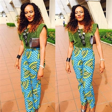 latest style in nigerian ovation top ten high waisted ankara styles pants dabonke