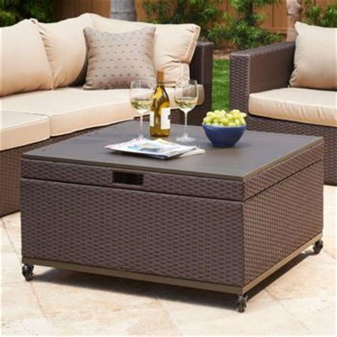 Patio Storage Table Inspiration For Patio Coffee Table With Storage Newport Patio Storage Ottoman By Mission