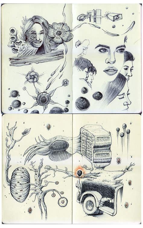 ballpoint pen doodles window to a warped universe boyet quintong doodlers