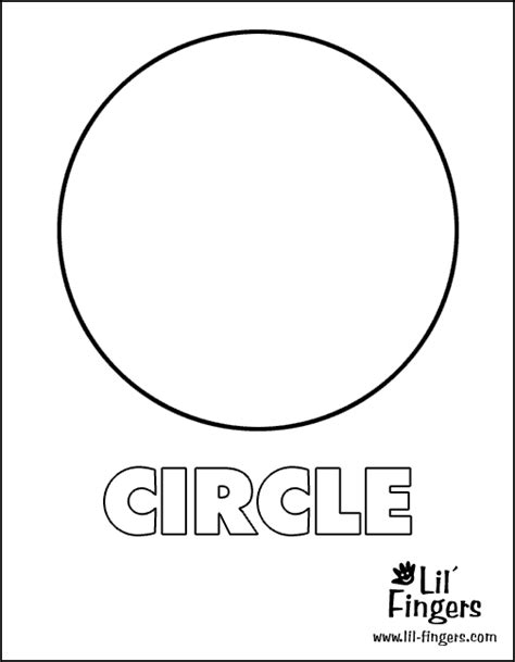 free circle shape coloring pages