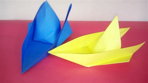 how to make a paper speed boat video how to make a speed boat out of paper at home youtube