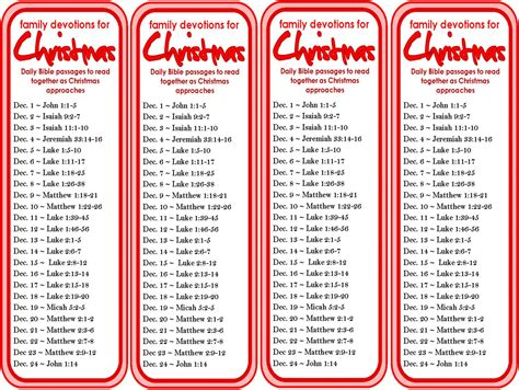 printable daily devotional calendar christmas devotions bookmark 25 daily scripture readings