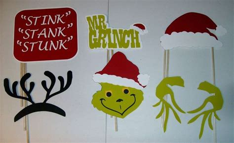 free printable grinch photo booth props details about 13 pcs diy photo booth props mr grinch