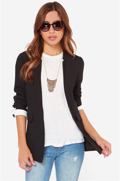 Sk 40 Black Chic Blazer 1 chic black blazer white cuff blazer collarless blazer 99 00