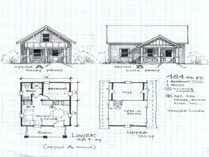 small house floor plans cottage floor plan for a 2 bedroom cabin with a loft studio