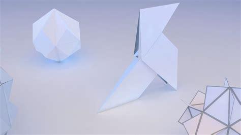 3d Geometric Origami - origami geometric 3d model max obj 3ds fbx mtl