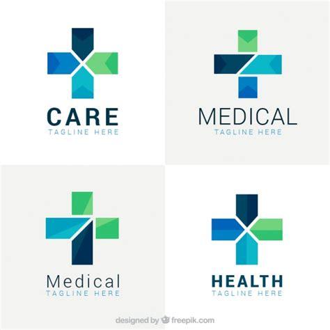 free logo design medical geometrical cross medical logos vector free download