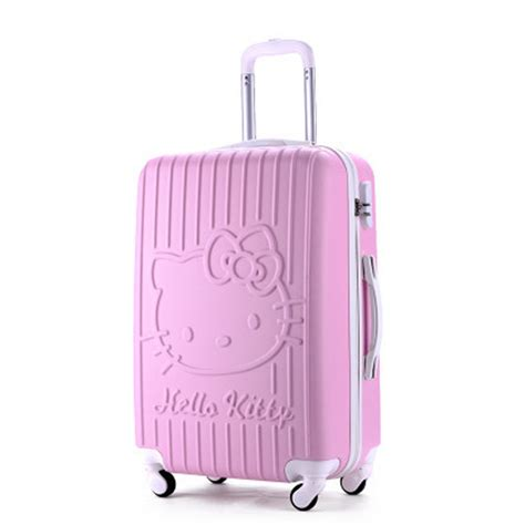 Luggage Bag Covers Hello 20 Inch 20inch travel suitcase spinner 4 wheel pink hello abs luggage bags rolling luggage