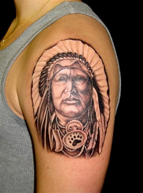indian head tattoo indian tattoos designs ideas and meaning tattoos for you
