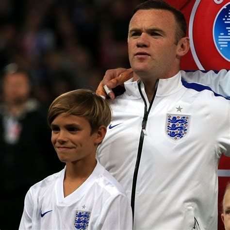 romeo beckham speaking romeo beckham leads england team out at wembley itv news