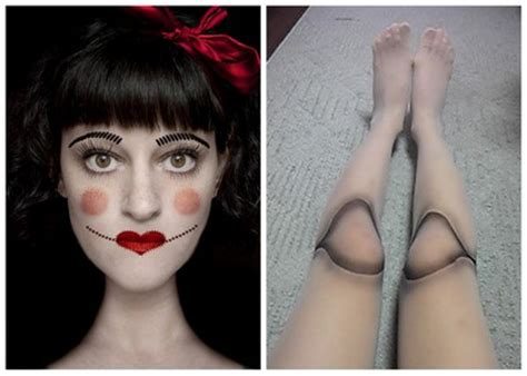 make a porcelain doll costume because i costume 3 or creepy doll