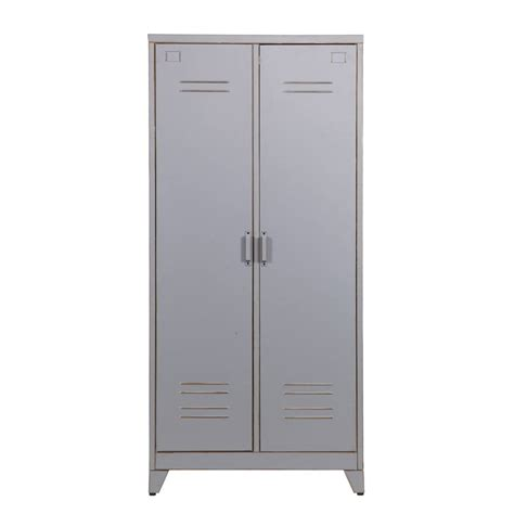 metal armoire metal locker cabinet by idyll home notonthehighstreet com