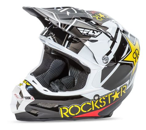 rockstar motocross gear fly racing f2 carbon rockstar helmet revzilla