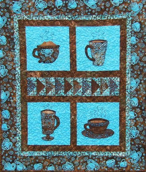 Coffee Quilt Pattern by Coffee Inspired Craft Patterns Projects