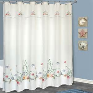united curtain co seashell polyester shower curtain