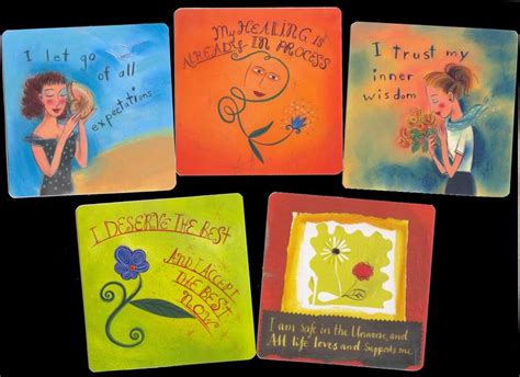 thoughts cards a deck of 64 affirmations books power thought cards