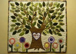 i made this family tree quilt for s 95th