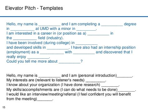Elevator Speech Sle For Students elevator pitch worksheet 51 images sle elevator pitch