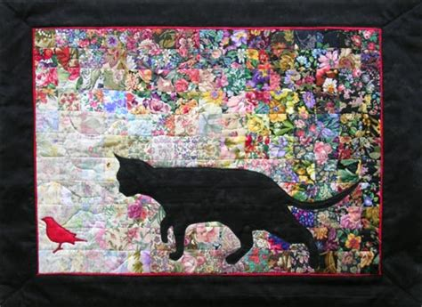 watercolor quilt pattern with cats and butterflies all quilt kits whims
