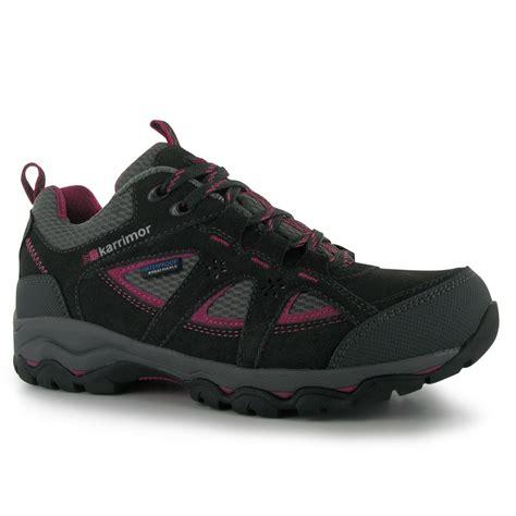 karrimor mount low waterproof hiking walking shoes lace up