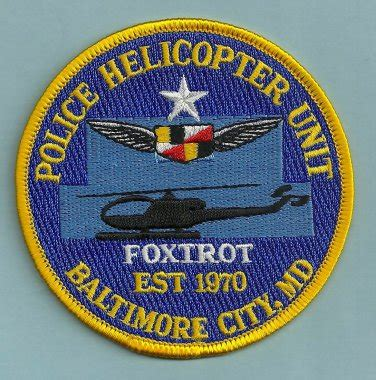 Baltimore Maryland Arrest Records Baltimore Maryland Helicopter Air Unit Patch