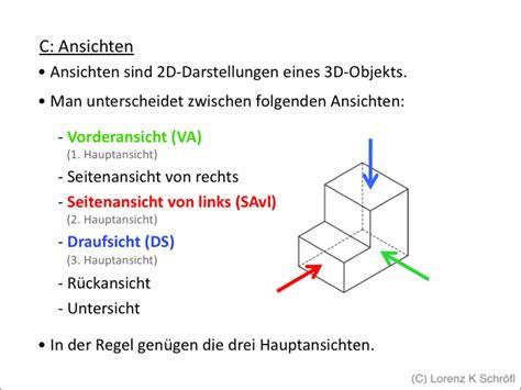 Technische Zeichnung Ansichten by Technisches Zeichnen Normen Powerpoint Pr 228 Sentation Ppt