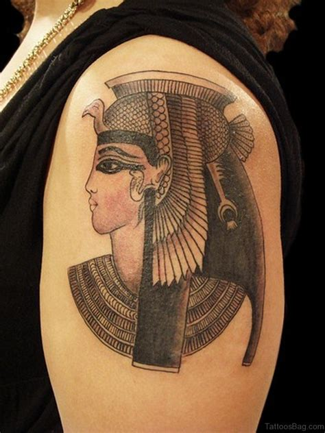 egyptian king and queen tattoo 47 graceful shoulder tattoos