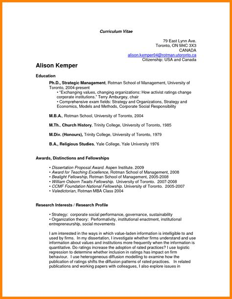 canadian resume format template 7 curriculum vitae canada exle day care receipts