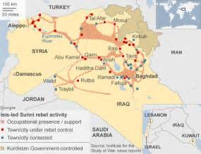 Map Of Syria And Iraq by Battle For Iraq And Syria In Maps Bbc News