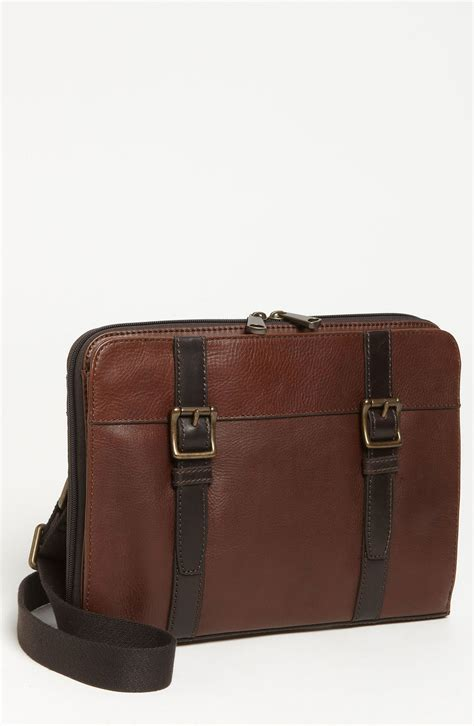Fussil Womens 2in1 Shoulderbags fossil estate messenger bag in brown for brown lyst